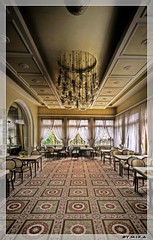 - dinner for no one - (mika@urbex) Tags: abandoned lost hotel decay urbanexploration diningroom overlook hdr ue verlassen bod grandhotel speisesaal urbex photomatix lostplace eos7d mikaurbex