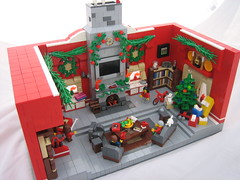 A Very Merry Christmas! (Outer Rim Emperor) Tags: santa christmas family red pets house holiday love children fire colorful lego garland presents merry