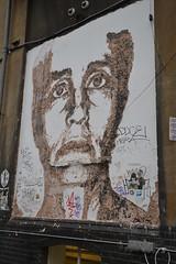 Vhils (Ausmoz) Tags: street urban sculpture streetart brick london art wall britain lane installation walls rue mur sculptures murs installations urbain vhils
