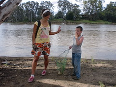 Good days fishing? (willheighway) Tags: life travel people travelling nature beauty river children fishing friend child innocent australia places traveling backpacker riends