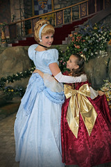 Cinderella and Christmas Belle (Angelasews) Tags: costume dress princess handmade disneyland disney belle cinderella princessfantasyfaire christmasbelle
