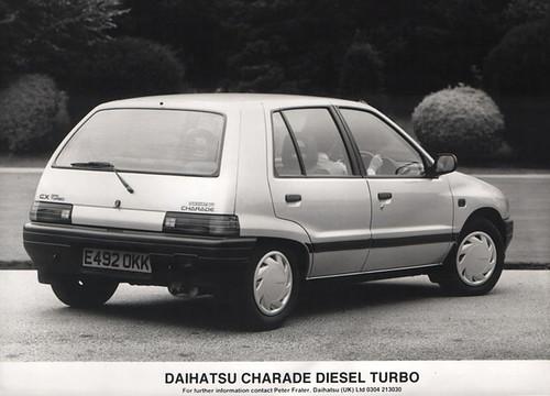 1987/88 Daihatsu Charade CX Diesel Turbo press pic - a photo on