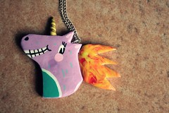 IMG_4220 (Papuzzini Smellow) Tags: art ecology design necklace funny handmade crafts craft polymerclay fimo gifts fantasy gift unicorn pendant cernit jewellry collana unicorno smellow papuzzini