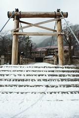 Kappa Bridge (Kamikochi) (peaceful-jp-scenery (busy)) Tags: bridge winter alps japan landscape sony 日本 matsumoto nagano 冬 kappa kamikochi 松本 長野 α 上高地 河童橋 azusagawa 梓川 dslra700 minoltaaf20mmf28new