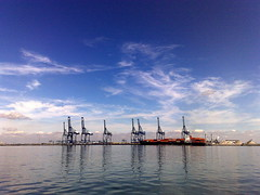 Thamesport (suvodeb) Tags: sea port docks sailing ship cargo cranes loading freighter thamesport