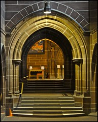 interior .... liverpool anglican cathedral (ana_lee_smith) Tags: uk travel pink windows light england detail tower tourism glass architecture liverpool lens photography design neon artist catholic colours view cathedral minolta bell britain gothic photojournalism kitlens 360 arches panoramic foundation stained architect installation gb 1978 1855mm af script ornate sir 2008 completed metropolitan 1904 anglican traceyemin paddyswigwam merseyside revival hopest highaltar 70210mm briefly gilesgilbertscott debatable stjamesgardens stjamescemetery ladychapel age22 photosof liverpoolanglicancathedral upperdukest benedicite stjamesmount beecan analeesmith ifeltyouandiknewyoulovedme sonyslta33 seniorarchitect georgebodley 331ft ultracontemorary