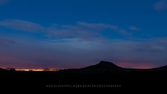 Roseberry Topping (One_Glass_Eye) Tags: christmas blue winter light cloud monument silhouette night point dawn lights star glow purple little yorkshire hill great north cook pollution captain serendipity moor middlesbrough teesside guisborough topping roseberry ayton 5dmk2
