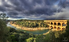 Point of vue - Pont du Gard - Panorama (JD Photographie.) Tags: travel bridge light vacation panorama tourism monument de point vacances site julien roman antique du unesco 200 pont 100 roussillon vue romain languedoc architecure gard aqueduc vers uzs languedocroussillon