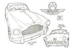 Stavelot, musée du circuit de Francorchamps (gerard michel) Tags: auto car sketch stavelot croquis francorchamps