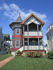 Colorful Victorian Home, Ocean Grove, NJ (markchevy) Tags: building home architecture landscape photo newjersey interesting colorful pix graphic victorian nj picture scene architectural vista pictorial oceangrove a3300 canonpowershota3300 markchevy