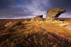 Ox Stones (andy_AHG) Tags: winter rural sunrise outdoors rocks stones peakdistrict scenic ox moors pennines britishcountryside burbagemoor northernengland landscapephotography beautifullandscapes