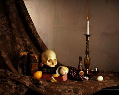 Momento Morte' (Studio d'Xavier) Tags: life stilllife composition painting photography death metaphor allegory symbolism afterlife vanitas dutchmasters strobist momentomorte getpushed