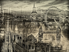 Feeling London in the night.Nellie Vin (Nellie Vin) Tags: london westminster night towerbridge londoneye parliament bigben impressionism londinium nellievin lundenwic lundenburg ststephen'stower