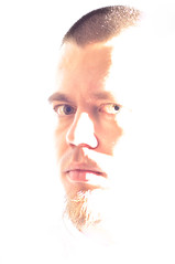 Hiding in Light (zedworks) Tags: light portrait white self eyes nikon diptych blind flood flash wireless selfie d90 offcamera strobist 5018d
