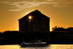 Light in the Attic (Kjell Hansen) Tags: sunset nikon boathouse solnedgang naust