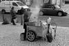 Portugal - Lisboa (Baixa) (xpgomes9) Tags: street blackandwhite portugal vendedor noiretblanc lisboa lisbon nuts stall pb baixa seller urbanphotography assar castanhas roastedchestnut assadordecastanhas lisbonscapes