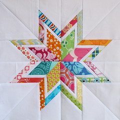 Lone Starburst (Annamal Quilts) Tags: quilting quilts 3x6 starblock quiltingbee beeblocks