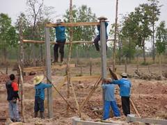 Irrigation Tower under construction (Asia Plantation Capital) Tags: thailand north na east ban jaa nakon sakon