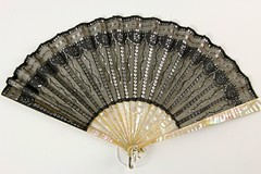 45. Vintage Mother of Pearl and Sequins Fan
