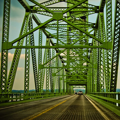 Green Bridge (Sky Noir) Tags: road county travel bridge usa green river point photography james virginia us george highway memorial harrison unitedstatesofamerica prince transportation benjamin hopewell span roadwork roadway jordans verticallift skynoir bybilldickinsonskynoircom