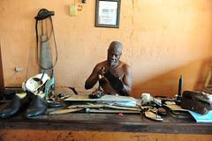 cobbler in Porto Novo (luca.gargano) Tags: africa travel shoe shoes benin artisan cobbler handcraft portonovo gargano lucagargano