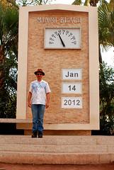 55° (randeclip) Tags: birthday clock beach me florida miami south 14 january posed calender temperature thermometer 2012