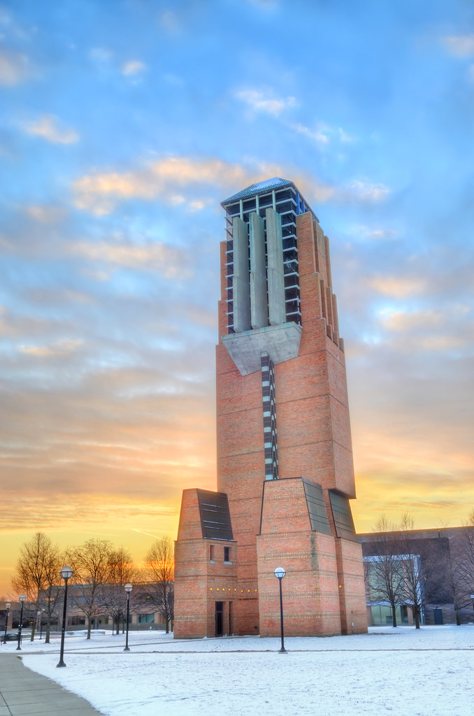 Lurie Bell Tower at sunset