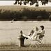 Heidesheim / Rhein: Couple enjoying a wonderful october sunday afternoon