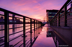 wider (gobayode photography...times) Tags: reflections salfordquays bbcnorthwest mediacity sunsetcolours iwmnorth therquays