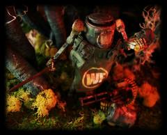 ThreeA World War Robot Portable - Dropcloth [Jungler] (Ed Speir IV) Tags: world wood toy toys actionfigure robot portable war ashley 3a jungle figure dio scifi 112 exclusive diorama variant dropcloth wwr jungler wwrp worldwarrobot threea junglerdropcloth