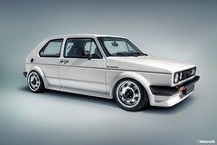 Volkswagen Golf MK1 Oettinger 16S (John Car.) Tags: auto white rabbit sports car vw vintage golf volkswagen studio model nikon automobile european euro stretch poke otto resin bbs processed softbox lighttent hdr wolfsburg polished slammed 118 scalemodel oettinger d90 mk1 16s atscups 1920x1280 16soupapes