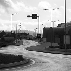 The road to success is not straight. (ivan.peplov) Tags: road bw portugal monochrome car square quote lusitania