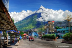 mayon volcano seen from downtown legazpi (Rex Montalban Photography) Tags: philippines bicol hdr legazpi mayonvolcano legazpicity rexmontalbanphotography