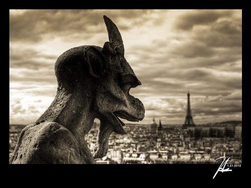 Paris, France - Gargoyle At Notre Dame Cathedral - Explore 1.22.12
