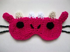 100_2554 (Mooy) Tags: cute dragon handmade crochet adorable chinesenewyear kawaii etsy hotpink sleepmask sleepingmask yearofthedragon mooeyandfriends