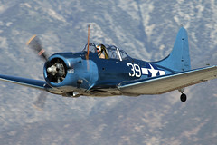 Dauntless (Trent Bell) Tags: california airport aircraft cable airshow socal douglas dauntless warbird 2012 upland sbd