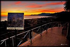 Dans les yeux de Monet (Russo's visions) Tags: italy sun art nikon italia tramonto arte monet sole turismo claudemonet imperia orizzonte ventimiglia bordighera pittura nikond200 rivieraligure