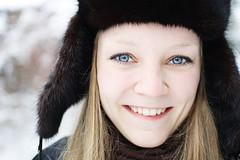 Better Version of Me (Christine H.G.) Tags: portrait me hat canon fur eyes xsi sigma30mmf14exdchsm 450d