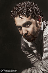 Studio Portrait & Studio Flash (Ghaith Salih Art) Tags: light portrait beauty by canon hair studio grid 1 photo with dish cam flash 71 f 7d setup sec softbox 1125 salih ghaith 9060 wwwghaithartcom httpwwwpsuaenetupuploadsimagespsuae598d547fd1jpg