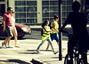 Golden age / Edad de oro (Claudio.Ar) Tags: street city people woman color men argentina yellow subway gold buenosaires candid sony ciudad dsc h9 abigfave claudioar claudiomufarrege