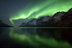 Ersfjordbotn (peterspencer49) Tags: winter seascape cold norway reflections europe arctic aurora moonlight coastline fjord solarwind northernlights arcticcircle extremecold nordlys winterview seascene oceanveiw ersfjordbotn aurorasborealis 5dmkll peterspencer peterspencer49
