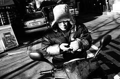 ZI-201112-B-002-14c (model337) Tags: street winter bw cold film contrast shadows rangefinder scooter busan zeissikon pushed southkorea kodaktmax400 4001600 zm35f2 zeissbigon35mmf20