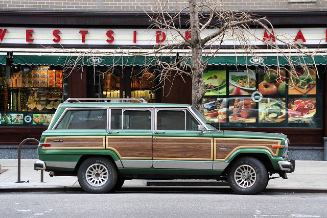 nyc ny classic vintage chelsea jeep manhattan 1988 utility grand vehicle parked suv collector wagoneer fullsize