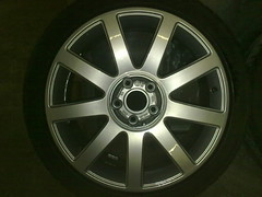 """Audi A4 S-Line 18"""" CE chrome over silver • <a style=""""font-size:0.8em;"""" href=""""http://www.flickr.com/photos/75836697@N06/6811068283/"""" target=""""_blank"""">View on Flickr</a>"""