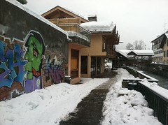 Street Art Chamonix France (louisa pickering) Tags: aiguilledumidi tlphriquedelaiguilledumidi ruedemoulins theoldeststreetinchamonix thevalleblanche