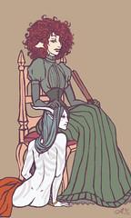 The Madame's Hound (isolationary) Tags: art domination hound mistress lineart vaina tawse madamedun