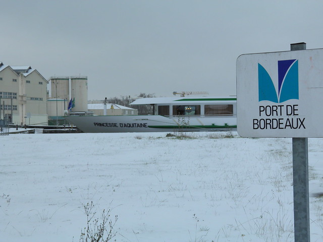 Port de Bordeaux - Princesse d'Aquitaine - Bordeaux sous la neige - 05 février 2012