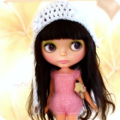 (Angel~Lily) Tags: new black alpaca vintage for doll sad no feel well cheeks need restoration to they kenner blythe bangs custom 1972 loved lark theres customised  reroot kenners blushy eyechips my are angel~lily