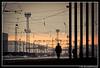 Perfect Strangers (EXPLORE #10) (Ilko Allexandroff / イルコ・光の魔術師) Tags: man lines station sunrise bulgaria vratsa гара изгрев сутрин alobe враца