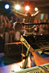 (movski) Tags: music concert keyboard bokeh 7d microphone hip hop mic szczecin słowianin